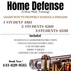 (Maryland) Protect Your Home HQL Training, 11020 Reistertown Rd, Owings Mills, 21117