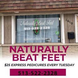 Naturally Beat Feet/Nails, 1610 Compton rd, Cincinnati, 45231