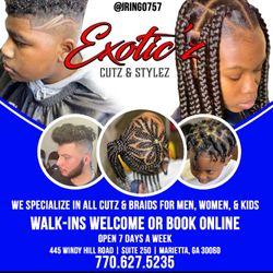 EXOTIC'Z CUTS & STYLEZ, 445 Windy Hill Rd SE, Suite 250, Marietta, 30060