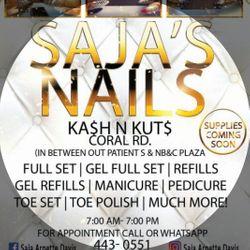Nails By Saja, KASH-N-KUTZ Coral Road, 2b, Freeport, 11520