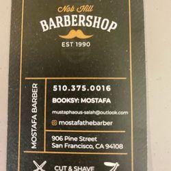 Nob Hill Barbershop, 906 pine street, San Francisco, 94108
