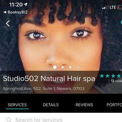 Studio502 Natural Hair spa, Springfield Ave, 502, Suite 1 studio 502, Newark, 07103