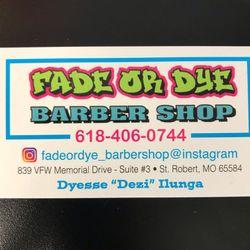 Fade Or Dye, 839 VFW Memorial Drive, Suite 3, St Robert, 65584