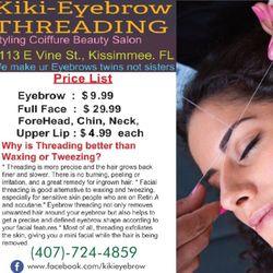 Kiki Eyebrow Threading, E Vine St, 1113, Kissimmee, 34744