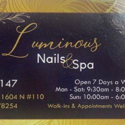 Luminous Nails, N TX-1604-LOOP W, 7915, #110, San Antonio, 78254