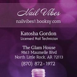 Nail Vibes @ The Glam House, 9863 Maumelle Blvd, North Little Rock, 72113