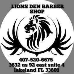 Lions Den Barbershop, 3632 E Memorial Blvd, Suite 4, Lakeland, 33801