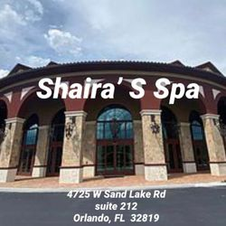 Shaira'S Spa, 4725 W Sand Lake Rd, Suite 212, Orlando, 32819