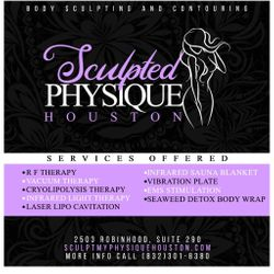 Sculpted Physique Houston, 2503 Robinhood St.,  Ste 290, Houston, TX, 77005