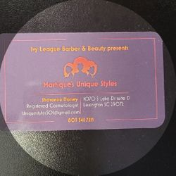 Martique's Unique Style's, 1070 S Lake Dr, Ivy League Barber And Beauty Suite D, Lexington, 29073