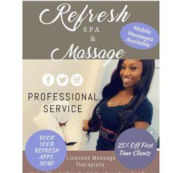 RefreshSpa&Massage llc, 9700 w 197th st, Suite 106a, Mokena, 60448