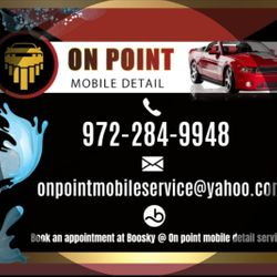 On Point Mobile Detail Services, Mobile, Dallas, 75232