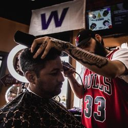 Edwin @ Traditions Barber Parlor, 3435 W. 51st St, Chicago, 60632