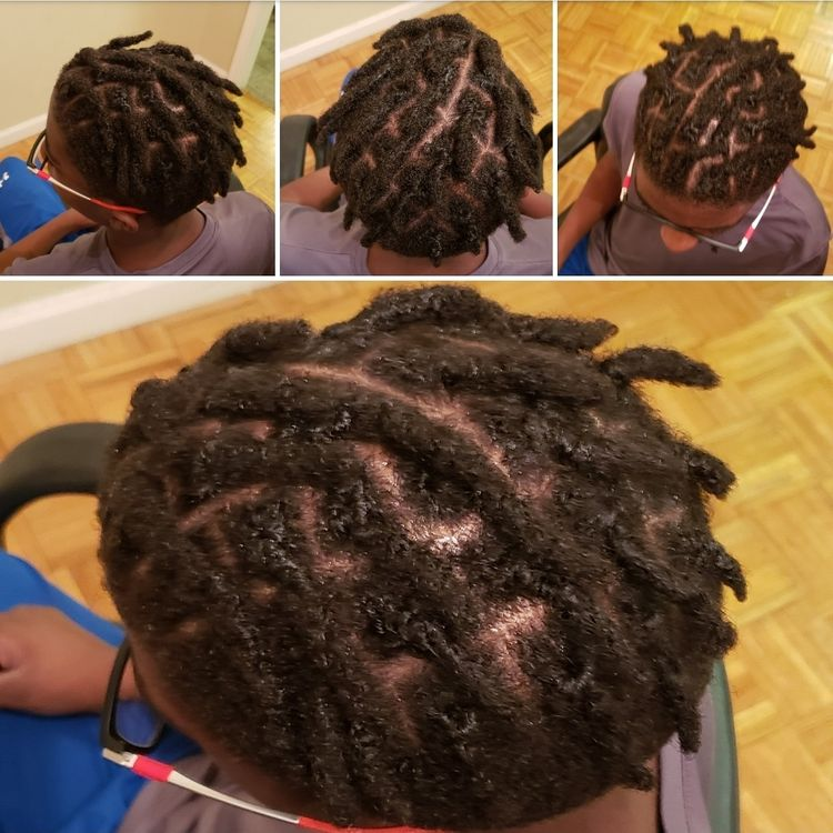 Medium Sized Instant Locs on 2-3 Inch Hair with Roots Interlocked No Extensions  2.5 Hours for Install