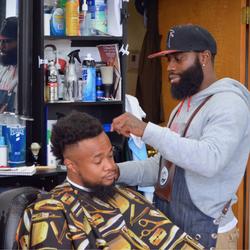 Jay - Black And White Barbershop