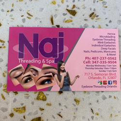 Najnin Akhter - Naj Eyebrow Threading, Microblading & Nails