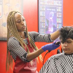 Mis Kim aka Lady Barber Slyce - Champions Barbershop