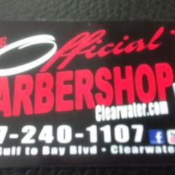 The Official Barbershop Clearwater, 2783 Gulf To Bay Blvd, Clearwater, 33759