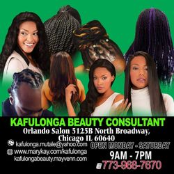 Kafulonga Beauty Consultant @ Salons by JC, 2860 N Broadway, Suite 23, Chicago, 60657