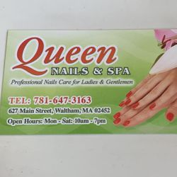 Queen Nails Salon, 627 Main Street, Waltham, 02452