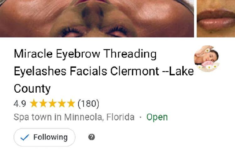 Eyebrow Threading Eyelashes Clermont