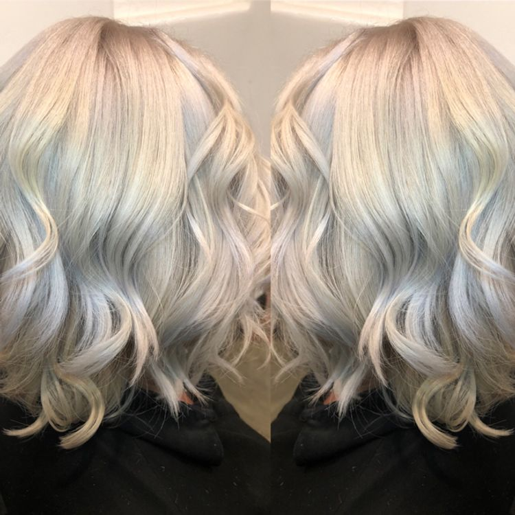 Silvery blonde ✂️💕icy !!