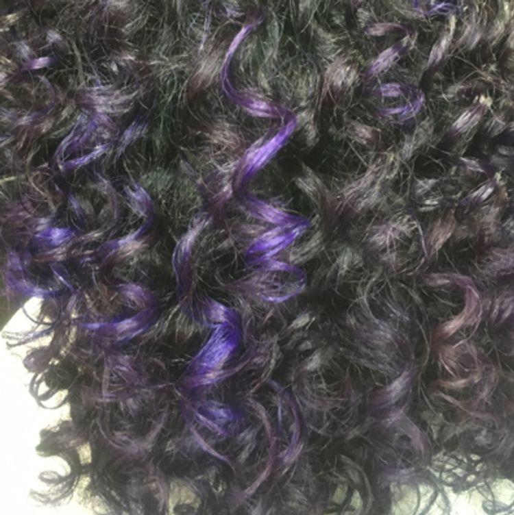 Neon purple highlights 💜✨