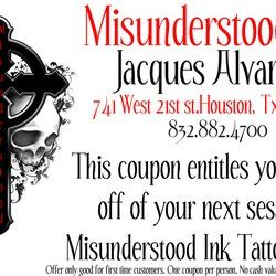 Misunderstood Ink Tattoo Studio