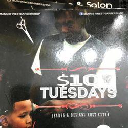 Lonnie Da Barber @ Mann's Finest Barbershop, 6822 N. 50th St., Tampa, FL, 33610