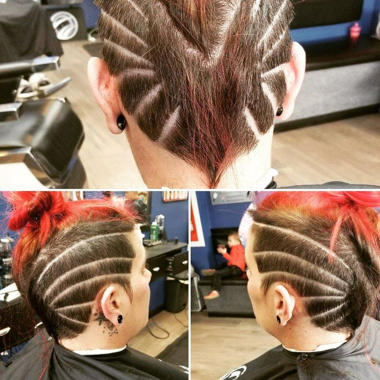 Womens cut with design