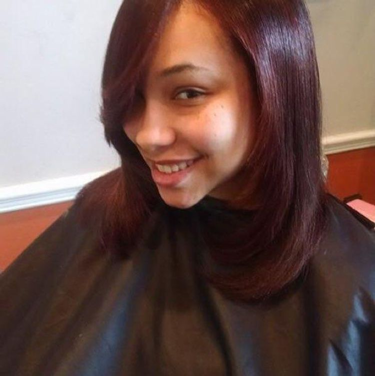 Color and blowout on natural hair