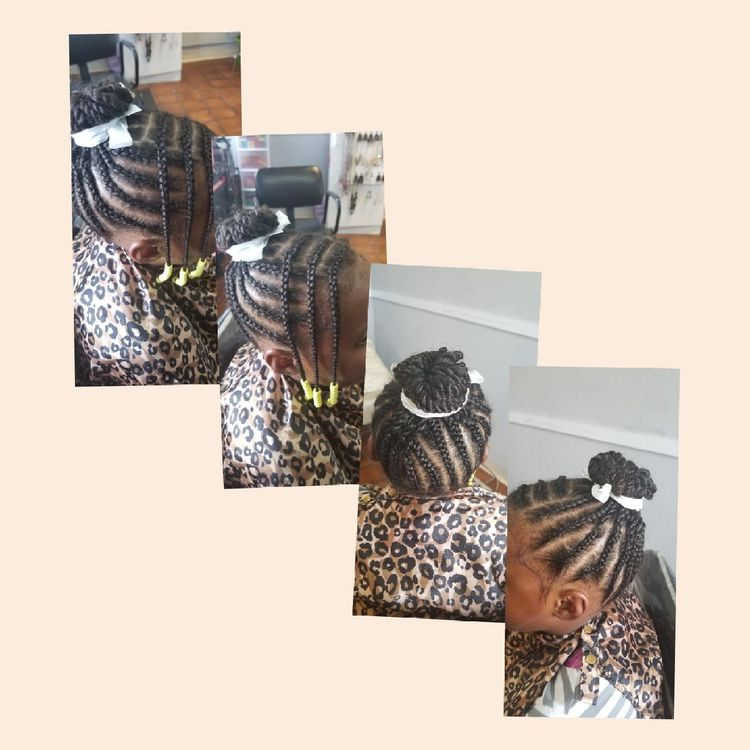"b""Kid's braids"""
