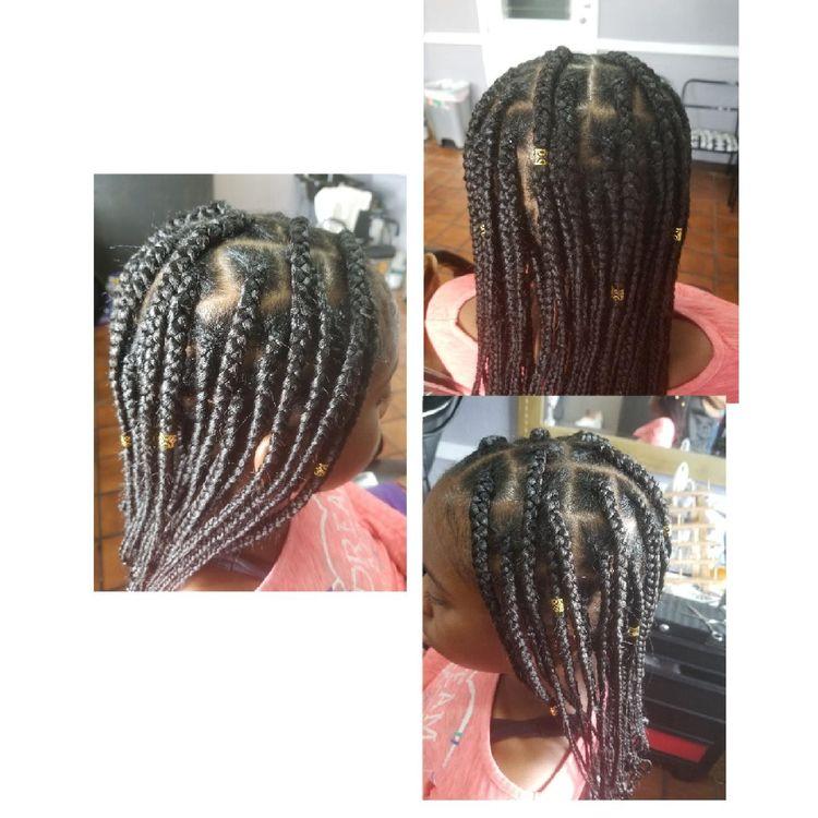 b'Knotless braids'