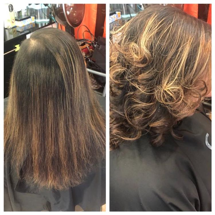 Volumizing Treatment/Layered Haircut