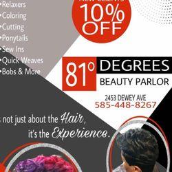81 Degrees Beauty Parlor LLC, 2453 Dewey Ave, Rochester, 14615