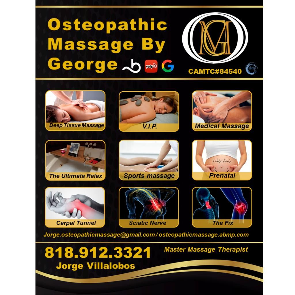 Massage, Physical Therapy, Other - Osteopathic Massage By George