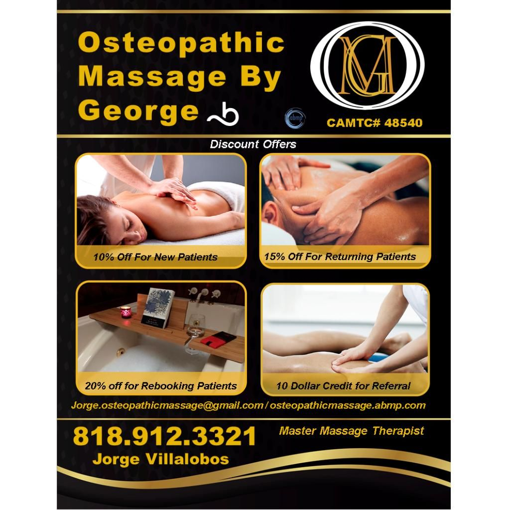 Massage, Physical Therapy, Holistic Medicine, Other - Osteopathic Massage By George