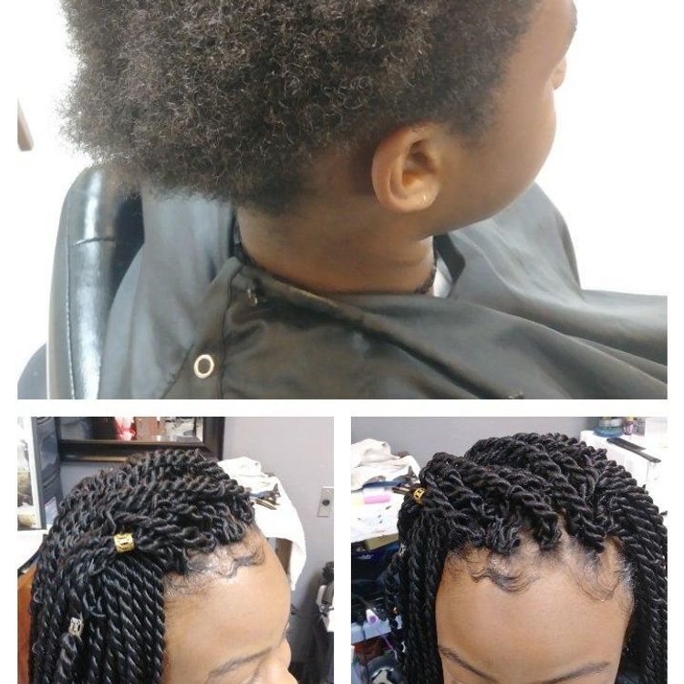 Young ladies Natural hair Crochet