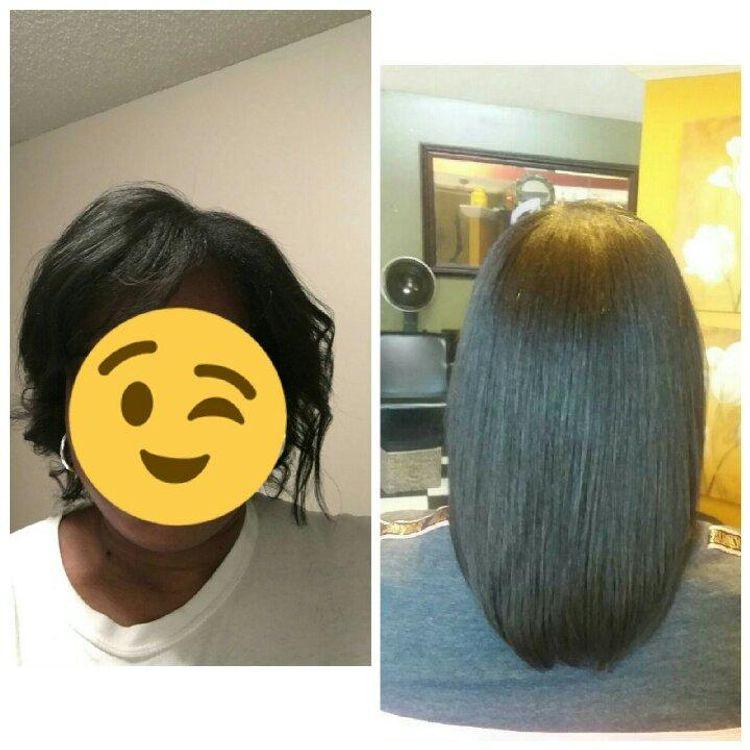 1 year hair growth