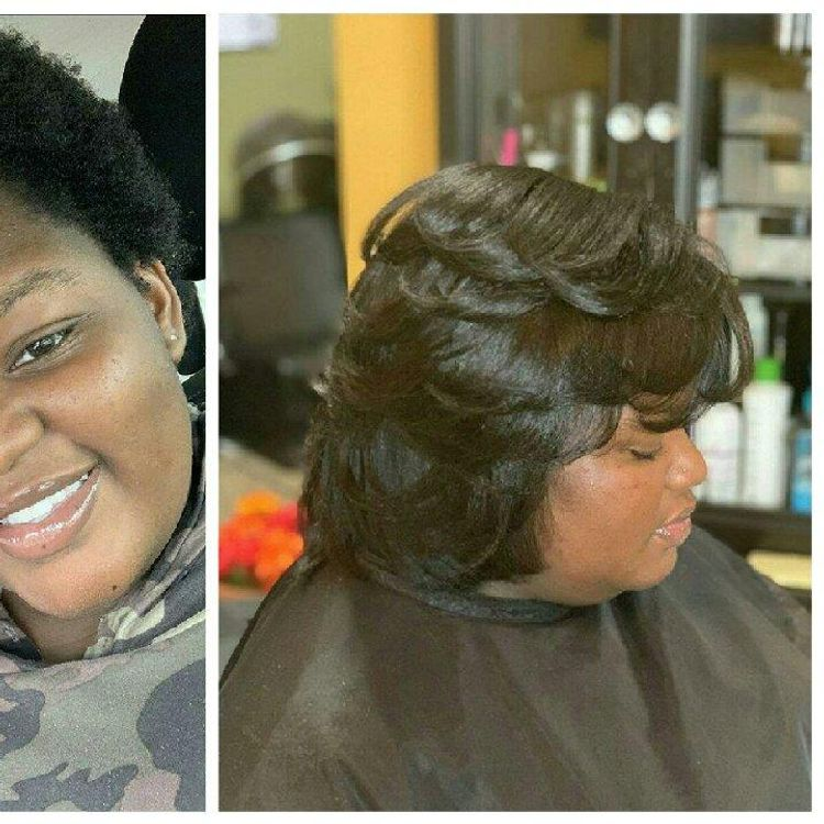 Before and After  Same day ...real hair