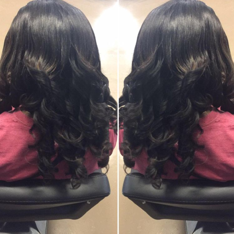 sew in and loose curls by Tenesha Gadson