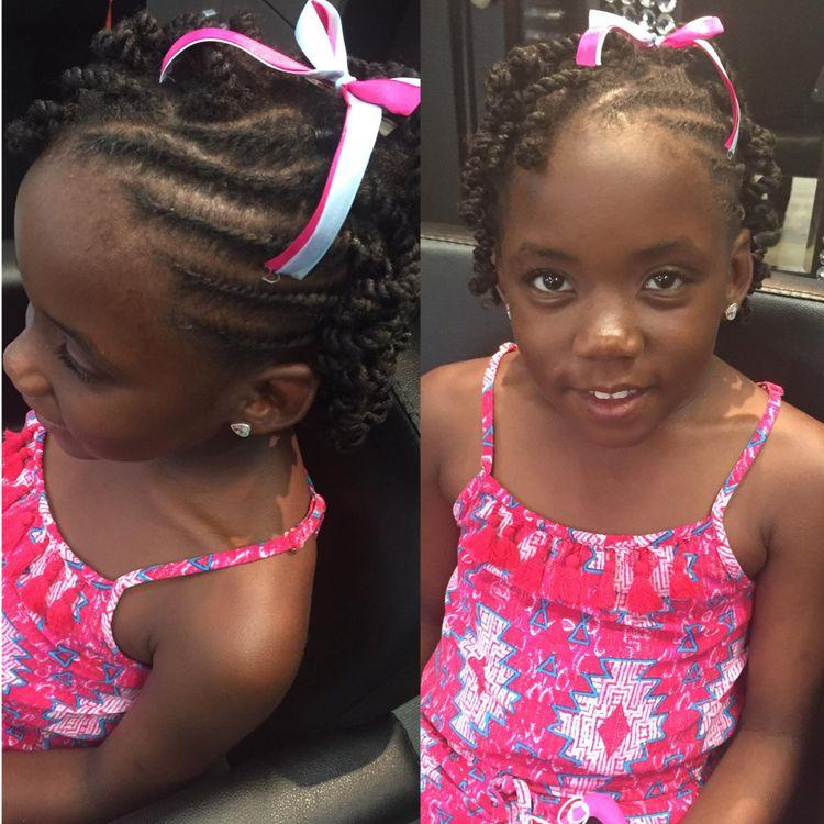 Kids natural twist style by Tenesha Gadson