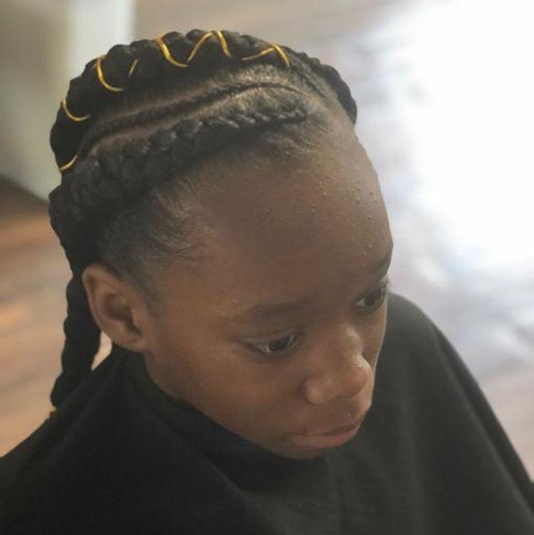 Kid feed-in braids