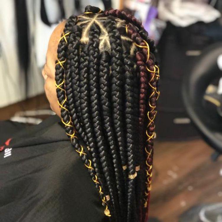 Larger box braids