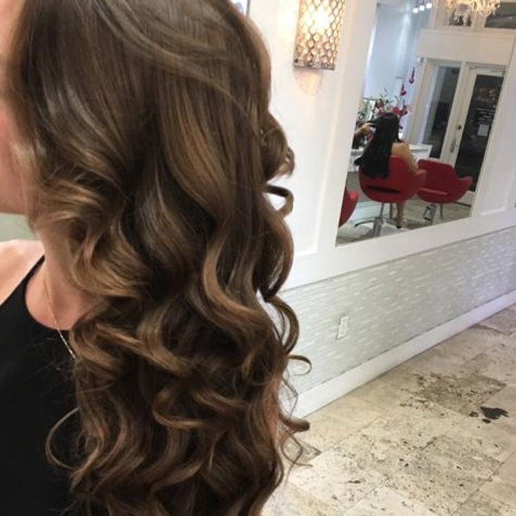 Blow out.. w/thermal styling (Beachwaves)