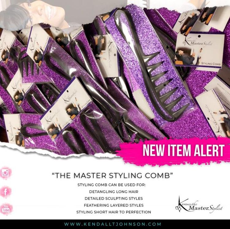 "Kendall The Master Stylist Styling comb! ""Styling made easy""! Available for purchase!"