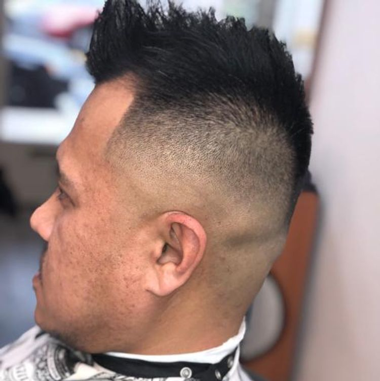 Skin fade with textured shear work