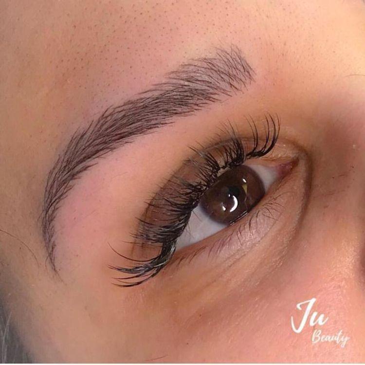Microblading + eyelash extension