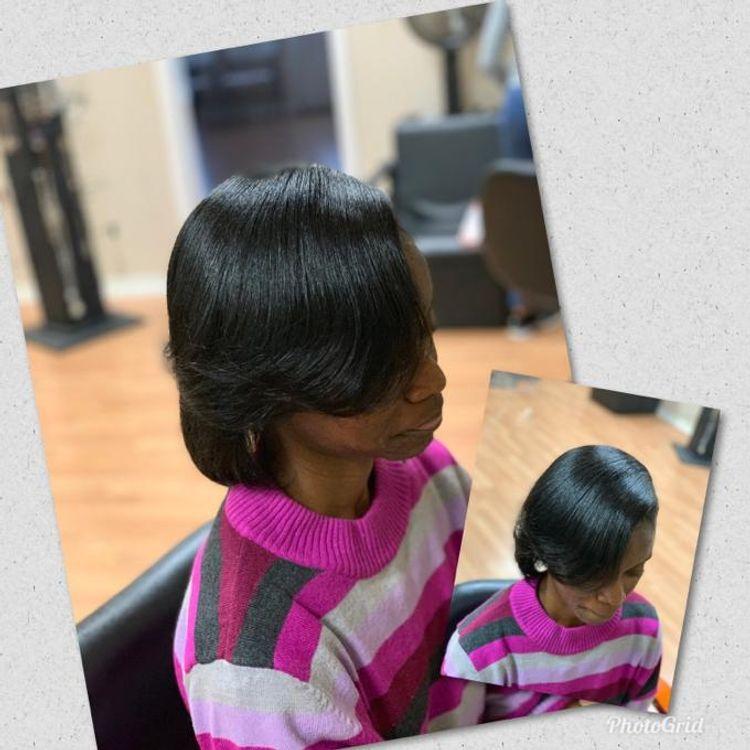 Natural Hair Silk Press!!!!!!💯💯 no chemicals!!