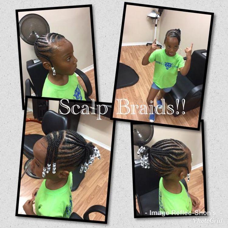 Kid Friendly Natural Hair Scalp Braids!!!!